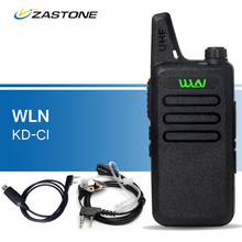 Original WLN KD-C1 Walkie Talkies UHF 400-470 MHz Portable Transceiver Ham Radio Handheld Transceiver kd-c1 Walkie-talkies Black