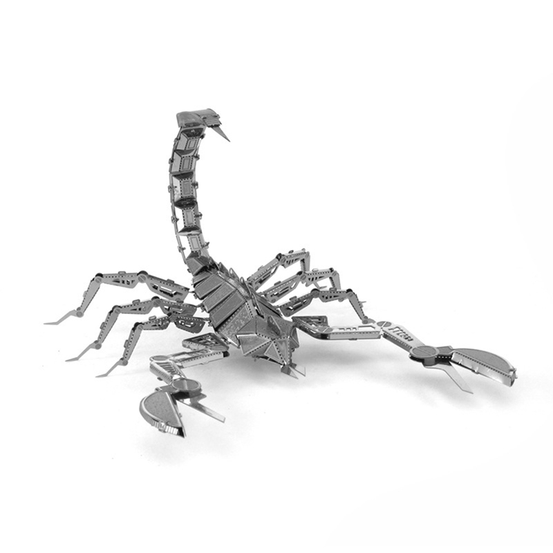 Scorpions 3D Metal Puzzle DIY Assemble Insect Scale Model Stainless Steel Learning Toy Education Toys Jigsaw Puzzle For Toddlers