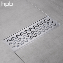 HPB Stainless Steel 304 Bathroom Shower Floor Drain 30*10cm Grates Waste Linear Tile Insert Long Drainer Floor Drain HP7914(China)