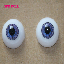 22 mm Doll Eyeball Toys Eyeball Half Round Acrylic doll Eyes FD04  purple color for 22 inches baby