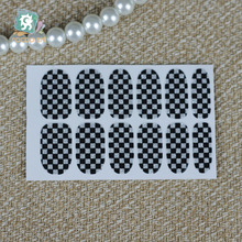 RU2PCS Y5110 Manicure Foil Decor Decal Adhesive Nail Art Stickers Glitter Grid Plaid Flag Sexy Desinger Nail Wrap Stickers(China)