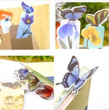 1PCS Bookmark Butterfly Style Teacher's Gift Book Marker Stationery Gift Realistic Cute Kawaii Cartoon 3d Bookmark