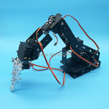 1set Black 6 DOF Robot Arm + Mechanical Claw + Large Metal base For Educational Project DIY Arduino Robotic Parts