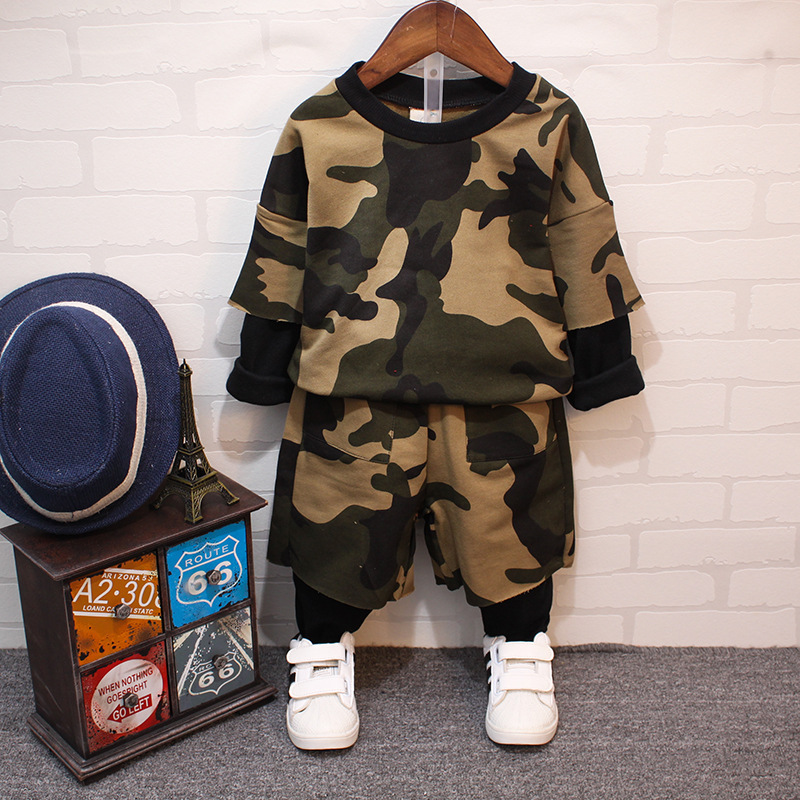 Boy new age season new camouflage two-piece suit childrens wear childrens camouflage<br><br>Aliexpress