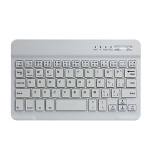 Factory price Ultra Slim Aluminum Wireless Bluetooth Keyboard For IOS Android Windows PC jy28(China)