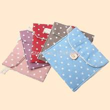 2016 New Portable Polka Dot Storage Pouch Girl Sanitary Napkin Holder Organizer Bag ostAY(China)