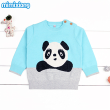 Adorable Panda Bunny Newborn Baby Sweater Pullovers Cotton Knit Kids Girl Knitwear Tops Long Sleeve Winter Coats For Infant Boys(China)