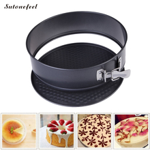 SutoneFeel Round Cake Mold Removable Bottom Bakeware Stainless Steel Pastry Mold Baking Tool(China)