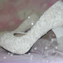 Free Shipping New Elegant Bridal Dress Shoes Wedding Party Dress Shoes Special Occasion Shoes Heel Pumps Bridemaid Shoes