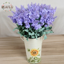 1PC 10 Heads Artificial Lavender Silk Flower Wedding Floristry Flower Arrangement Home Decoration 3 Colours(China)