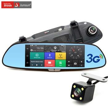 "Junsun 7 ""3G Cámara Del Coche DVR GPS Bluetooth Grabadora de Doble Lente de Espejo Retrovisor de Vídeo FHD 1080 P de Automóviles Espejo DVR Dash cam"