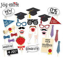 Graduation Party 29pcs Photo booth Props Bachelor Hat Cap Certificate Photobooth Graduate Party Supplies
