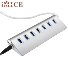 Top Quality USB3.0 HUB Aluminum 7 Ports High Speed For Macbook Pro Mac PC Laptop Factory Price JUL 5