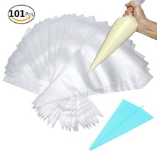 "BAKHUK 100 PCS 13"" Disposable Pastry Bags for Decorating Baking Products, With 1 14"" Reusable Decorating Pastry Bags as Gift"