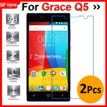 2PCS Grace Q5 Tempered Glass Protective Film Explosion-proof Screen Protector For Prestigio Grace Q5 506 PSP5506 DUO Case 9H