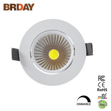 Dimmable Recessed LED Downlight COB Ceiling Spot Light 5w 7w 9w 12w LED Retrofit Lighting Fixture ceiling lamp Indoor Lighting(China)