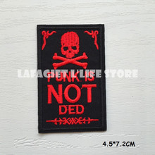 3pcs SKULL Logo Patches for Clothing Jacket Bag Motorcycle HAT Appliques Garment Iron Sew on patches Vest sticker(China)