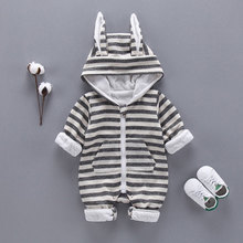 Spring Autumn newborn Baby Boys Clothes Sports Stripe suits infant Baby Boys Hooded Clothing Jacket rompers Kids cloth sets