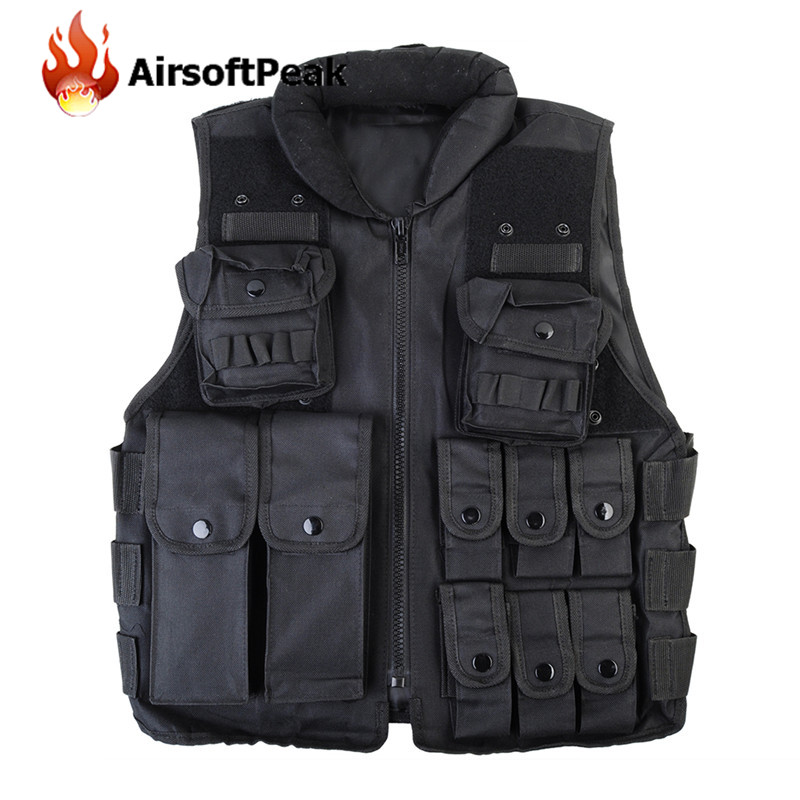 Tactical Vest Outdoor Camouflage Military Body Armor Sports Wear Hunting Vests Army Molle Vest Black Paintball CS Waistcoat <br><br>Aliexpress