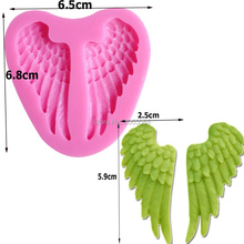M090 Beautiful Angel Wings shape Silicone 3D Mold Cookware Dining Bar Non-Stick Cake Decorating fondant soap mold