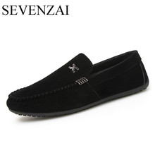 2017 autumn new leisure fashionable moccasins latest designer men shoes luxury brand ballet flats casual suede loafers for men