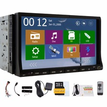Double 2 Din 7 inch Head unit In Dash Car Auto radio Stereo Video Player GPS Navigation with free GPS map+Analog TV+ iPod+FM/AM(China)