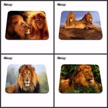 High Quality High Quality Glowing Lion And Tiger Pattern Durable Mini Optics Computer Rectangular Gaming Rubber Mouse Pad Gift(China)