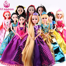 Abbie Doll Different Models Chose Cinderella Rapunzel Mermaid Snow White Princess Best Friend Play with Children(China)