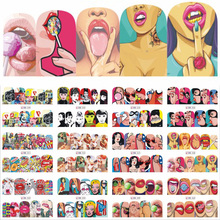 12 Designs Lips Cute Nail Art Decals Water Transfer Nail Stickers Beauty Polish Decoration For Watermark Nail Art LABN349-360(China)