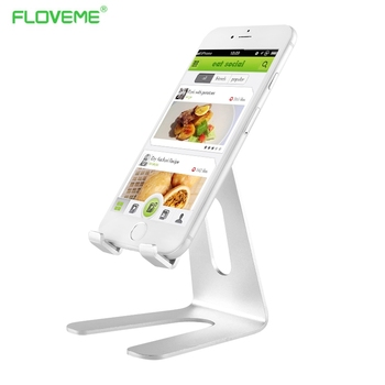 Floveme metal de aluminio soporte para iphone 7/7 plus 6 s 6 5S 5 se 4 4S samsung huawei lg htc sony teléfono móvil de escritorio de la tableta titular