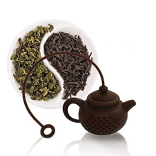 High Quality Creative Silicone Tea Bag Tea Pot Shape Tea Filter Safely Cleaning Infuser