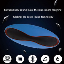 X6 Mini Bluetooth Speaker Wireless Handfree Portable Stereo Rock Sound Outdoor Football 5 Corlors Rugby Boombox TF With Mic