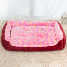 Large Size Dog Cage Cat Litter Puppy Basket Pets Warm Kennel Mat Soft Fleece Sofa