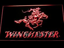 d243 Winchester Firearms Gun Logo LED Neon Sign with On/Off Switch 20+ Colors 5 Sizes to choose(China)
