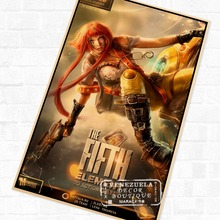 Leeloo Fifth Element Sci-fi Movie Poster Classic Retro Vintage Kraft Decorative DIY Wall Sticker Home Posters Decoration Gift