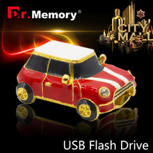 Pen drive Minion USB Flash Drive on sale usb flash mini small red car 4GB 8GB 16GB 32GB usb2.0 key chain usb stick cooper(China)