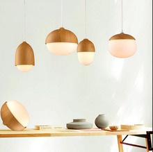 Navia style Pendant Lights  Nordic nuts mushrooms modern simple personality creative imitation wood lamps Pendant Light CL MZ140