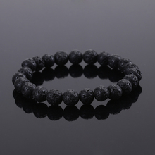 2015 Fashion Jewelry Men bracelet Black Lava Energy Stone Beads Buddha Bracelet for Women Christmas gift(China)