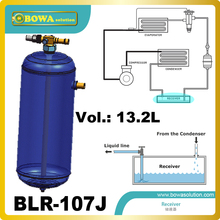 13.2L vertical liquid refrigerant receivers are installed in flake ice maker or block ice maker machine