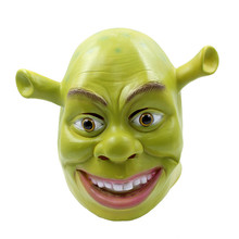 Shrek Mask full head overhead Latex film masks Halloween Props Adult Animal Masquerade Party Rubber Silicone Green Cosplay Moive(China)