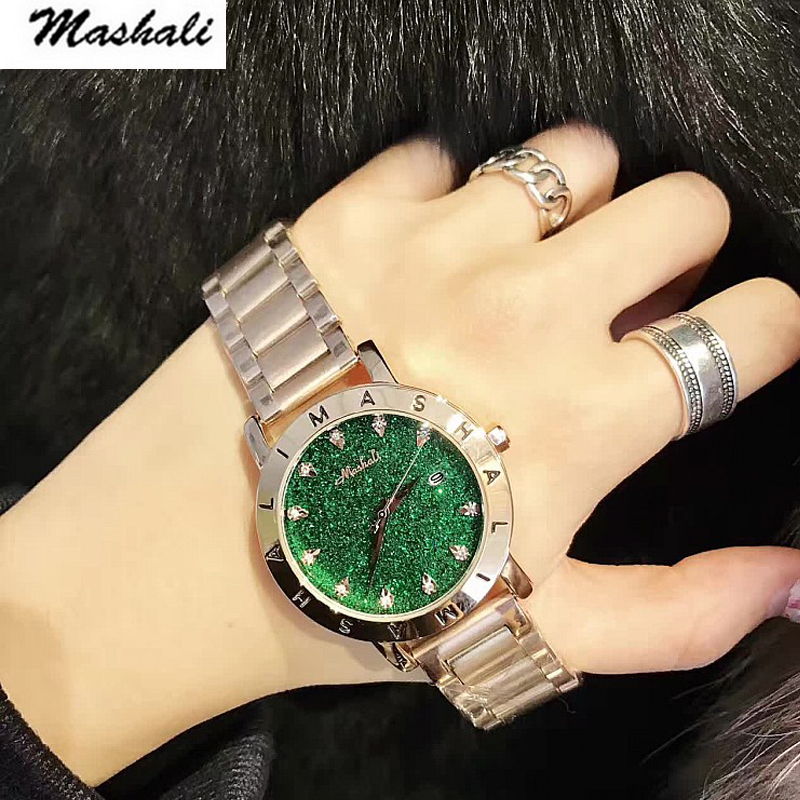 Mashali Brand 2017 Luxury Fashion Crystal Women Bracelet Watch Female Diamond Dress quartz Watch Ladies Rhinestone Wristwatches<br>
