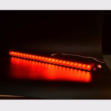 1PC Universal LED 12V Car Additional Brake Light High Mount Third Brake Stop Tail Light Lamp Red Yellow Color Hot Sale 44*2cm(China)