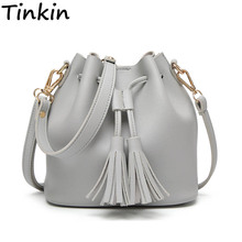 Tinkin Summer Tassel Women Shoulder Bag Casual Messenger Bag All-match Women Bag Color:brown,gray,green(China)