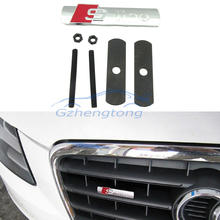 Car Styling 3D Metal S-line Logo Front Hood Grille Badge Grille Emblem Auto Stickers Car Decal For Audi