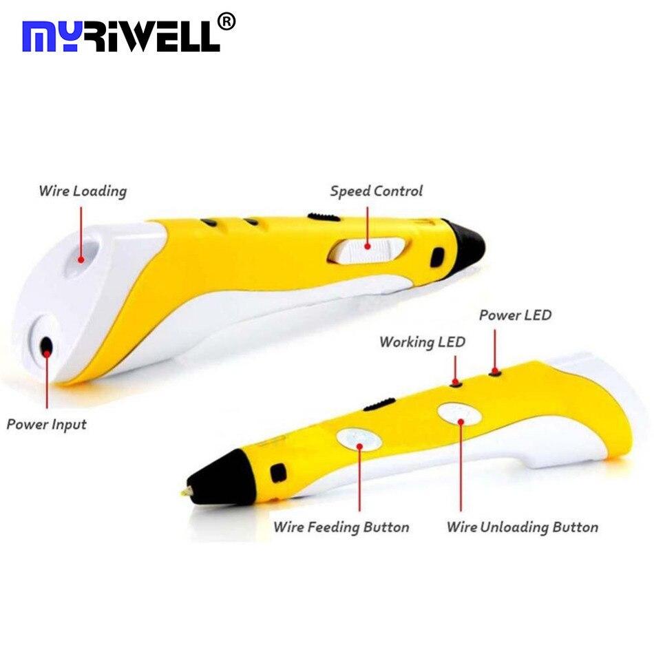 Child Creative Gift 1.75mm ABS/PLA DIY Smart 3D Printing Pen 3D Pen  Maker +10M Filament +US UK AU EU Adapter For Kids  Drawing<br>