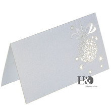 12PCS White Laser Cut paper Flower Name Place Cards Wedding Table Card Seat Card for Wedding Favors Decoration