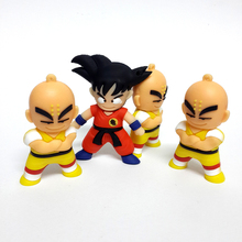USB 2.0 Cartoon Usb Flash Drives Cute Wukong Kuririn Gifts Pen Drive 4GB 8GB 16GB 32GB 64GB Dragon Ball Pendrives Memory Stick