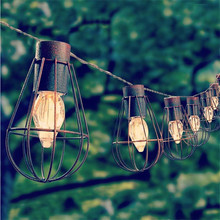 Led Solar garden light lampe solaire decorative Metal string lights 10led waterproof led solar lamps for garden decoration