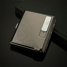 Creative metal cigarette lighter and lighter design 2 In 1 USB lighter environmental protection cigarette lighter(China)