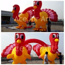Supper Thanksgiving Day Decoration Giant Double Inflatable Turkey For decoration or Advertisement